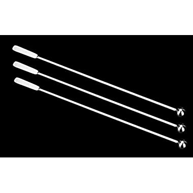 7.4 Inches Small Rectangular Paddles Stainless Steel Swizzle Stick Cocktail Picks Coffee Stirrers (Set of 3)