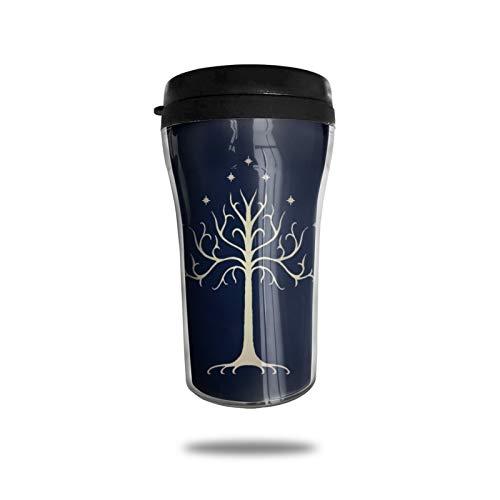 Lord Rings Taza de café con aislamiento al vacío, taza de doble pared, taza de viaje para bebidas de vidrio de viaje de trabajo de moda conveniencia