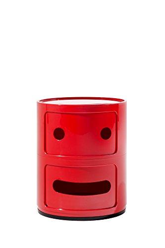 Kartell, Componibile Smile, Contenitore, Rosso, 32 x 32 x 40 cm, Smile 2
