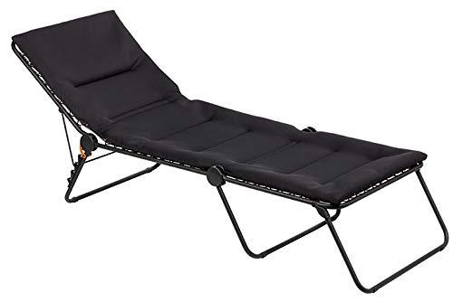 Lafuma Siesta Aircomfort Liege mit Stahlrohr, gepolstert, Schwarz
