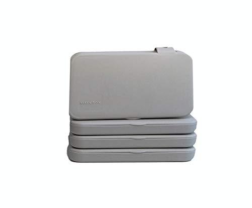 ECODEPIL Porta mascarillas para Niños - Pack de 4 Estuches - Caja para mascarillas Reutilizable- Ideal para Guardar Tus mascarillas- Protección asegurada Fácil de Limpiar- Color Gris