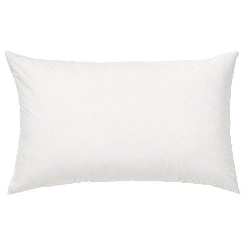 Riva Paoletti 100% najlepsza biała poduszka z pierza kaczego poduszka wewnętrzna podkładka, 30 x 50 cm, bawełna, kość słoniowa