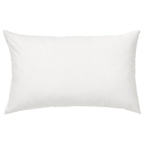 Riva Paoletti 100% Finest White Duck Feather Cushion Inner Pad, 30 x 50cm, Cotton, Ivory
