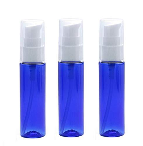 3pcs 30ml 1oz vide bouteille de presse bleue en plastique réutilisable avec tête de pompe blanche lotion portable essence lait hydratant pot support de flacon distributeur de produit émulsion