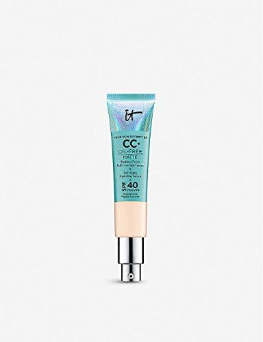 It Cosmetics CC+ Oil-Free Poreless Finish Full Coverage Cream + Anti Aging Hydrating Serum Color:Light