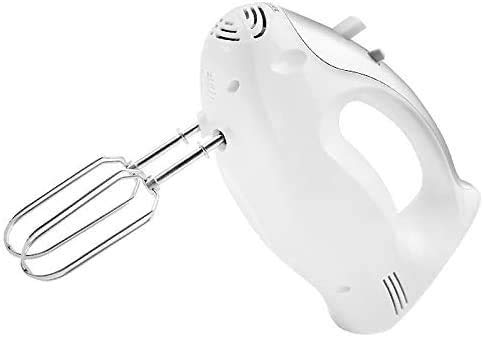 FTYYSWL Electric Hand Mixer, Stainless Steel Electric Hand Mixer, Household Portable Hand Mixer, Kitchen Electric Hand Mixer, Baking Mixer, 5-Speed Setting-Yellow