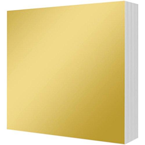 Hunkydory Mirri Matts 100 Mirri Sheets in Rich Gold 6x6  Mirror Board MCDM103