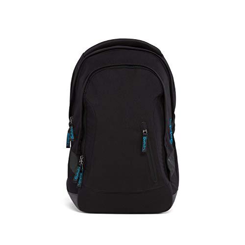 satch Sleek Black Bounce, ergonomischer Schulrucksack, 24 Liter, extra schlank, Schwarz
