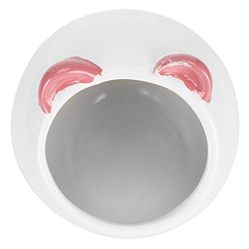 Meiyya 𝐂𝐡𝐫𝐢𝐬𝐭𝐦𝐚𝐬 𝐆𝐢𝐟𝐭 Hamster Ceramic Bath, Bed Bathtub Ceramic Hamster House, for Hamster Chinchilla Pet Small Animals Nest