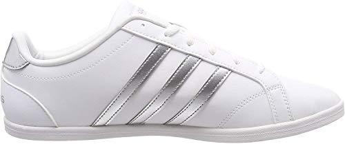 adidas Coneo QT, Chaussures de Fitness Femme, Cloud White/Matte Silver/Cloud White, 38 EU