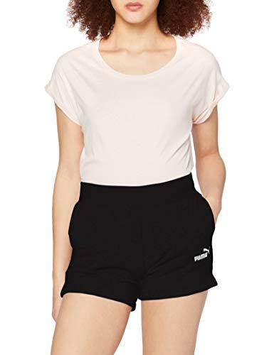 PUMA Damen ESS Sweat Shorts TR Hose, Cotton Black, L