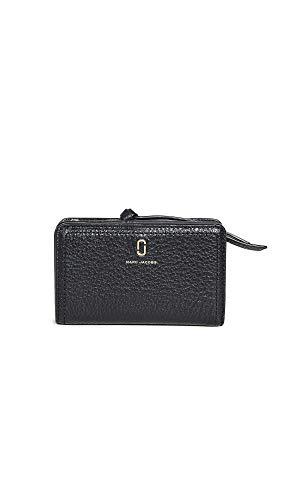 Marc Jacobs Damen die kompakte Softshot-Brieftasche TU Schwarz