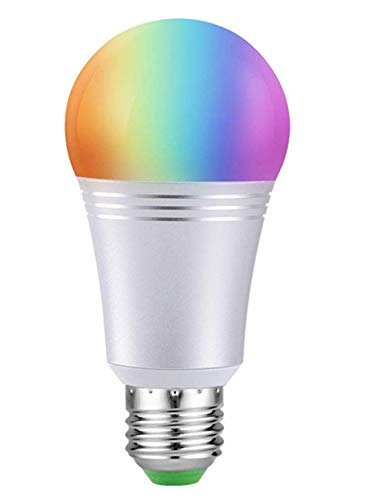 Ausein Bombilla LED Inteligente, WiFi Bombillas Inteligentes 6000K 7W Dimmable Smartphone de Color Controlado Luz Blanca, No Se Requiere Hub, Funciona con Amazon Echo Alexa Google Home E26 A19