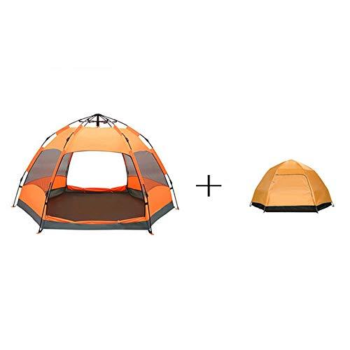 LJJOZ Pop-Up Outdoor Blue Hexagon Doppelschicht Zelt Sonnenschutz tragbare Doppelzelt Refuge (Color : B)