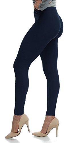 LMB Women's Ultra Soft Leggings Stretch Fit 40+ Colors - Plus Size - Dark Navy