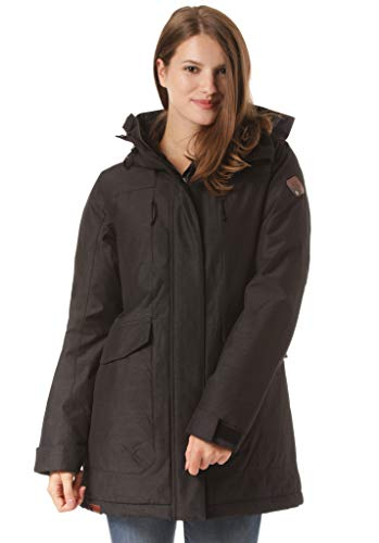 Lakeville Mountain Damen-Jacke Avoca | Warme Winter-Jacke, Outdoor-Jacke, Funktions-Jacke, Parka, Mantel | Schwarz, L
