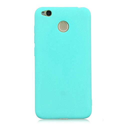 cuzz Custodia Xiaomi Redmi 4X+{Film di Vetro temperato}Silicone TPU Cover Morbida Protettiva Custodia Ultra Sottile Leggero Cover-Blu Chiaro