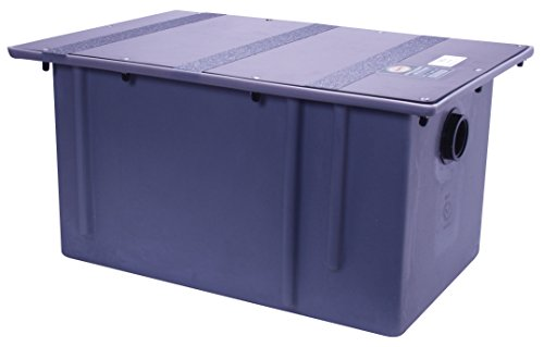 Great Price! Zurn GT2702-35 Polyethylene Grease Trap 35 Gallons Per Minute 70 Pounds Capacity Grease...