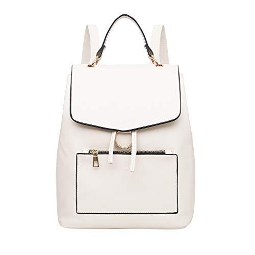 H.eternal(TM) - Bolso mochila de Poliuretano para mujer Blanco blanco M