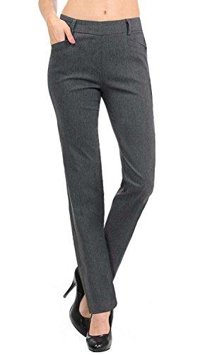 VIV Collection New Women's Straight Fit Long Trouser Pants (Medium - 30