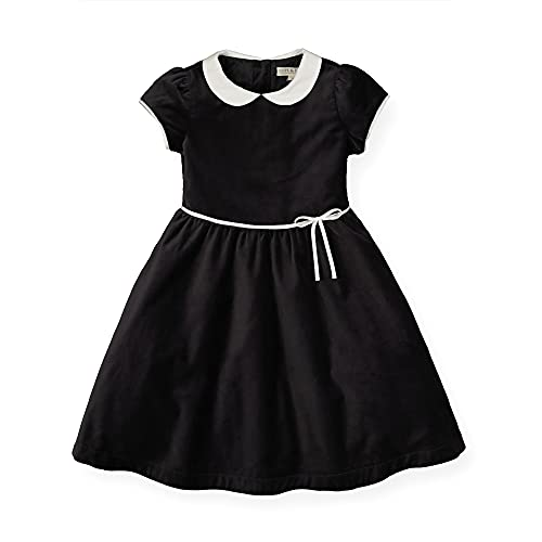 Hope & Henry Girls' Short Sleeve Special Occasion Peter Pan Collar Dress