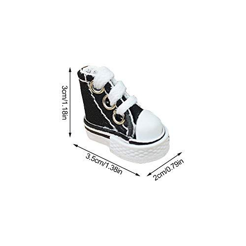 Afford Mini Finger Schuh Cute Skate Board Schuh Griffbrett Schuh Leinwand Mini Sneaker Schuh für Finger Breakdance Griffbrett für Kinder Geburtstag, Party Geschenk