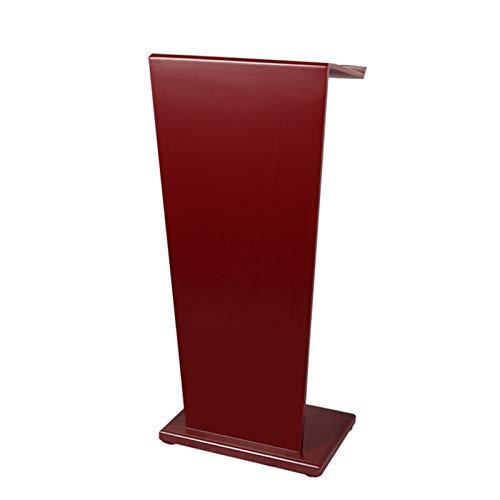 NEHARO Atril podio podio comercial resistente podio hablar colegio, iglesia, podio, púlpito, recepción portátil con estante de almacenamiento (color rojo, tamaño: 53 x 33 x 114 cm)