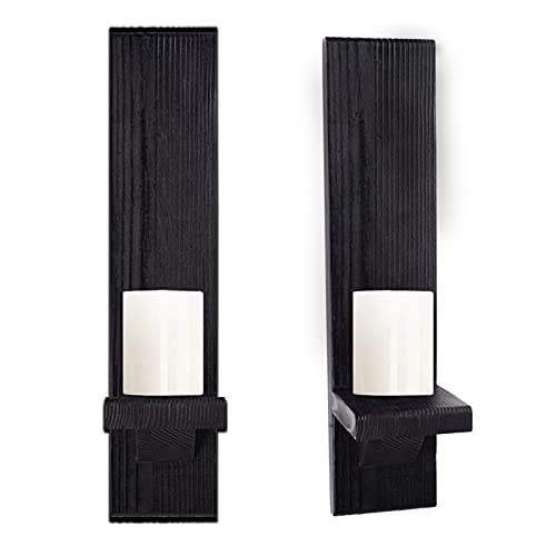 NKDJLAS Wall Candle Holder, Candle Sconce,Wall Candle Holders Decorative Set of 2,Candle Sconces Wall Decor Set of 2,Candle Wall Sconces Set of Two Candle Holder, Wall Candle Sconces Wall Art(Black)