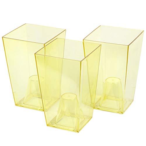 Preisvergleich Produktbild myBoxshop Töpfe 3 Stück mit Abstandshalter Blumentöpfe für Orchideen 2 Liter Pflanzgefäße