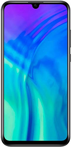 Honor 20 Lite Smartphone Bundle (15,77 cm (6,21 Zoll) AllView Display, Al Triple-Kamera, Dual Nano-SIM, 128 GB interner Speicher, Android 9.0) Midnight Black + gratis Classic Earphones