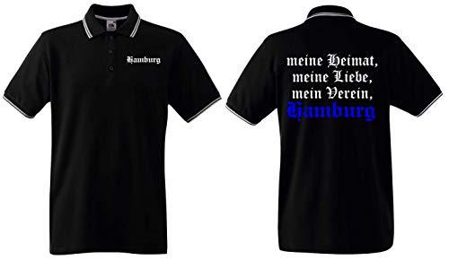 Hamburg Herren Retro-Polo Shirt Meine Heimat Meine Liebe Mein Verein Ultras
