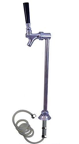 Upright Slim Chrome Beverage Tower, Kegerator, Countertop - Single...