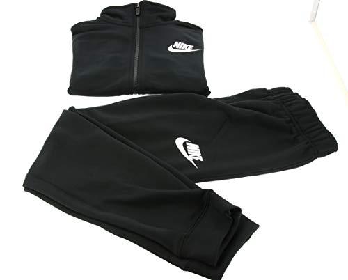 Nike CV9335-013 U NSW CORE FUTURA PLY TRK STE Tuta da ginnastica Bambino BLACK/BLACK/BLACK/(WHITE) XL