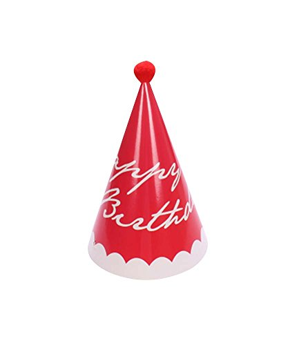 Blancho Rouge, Fournitures De 5Pcs d'anniversaire d'enfants Hat Party Party Hat