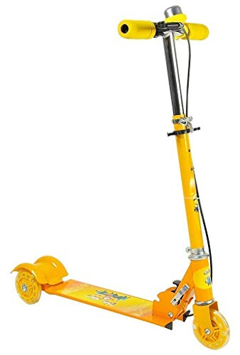 JAMUNESH Road Runner Scooter for Kids of 3 to 14 Years Age 3 Adjustable Height, Foldable, LED PU Wheels & Weight Capacity 75 kgs Kick Scooter with Brakes (Multi Colour)