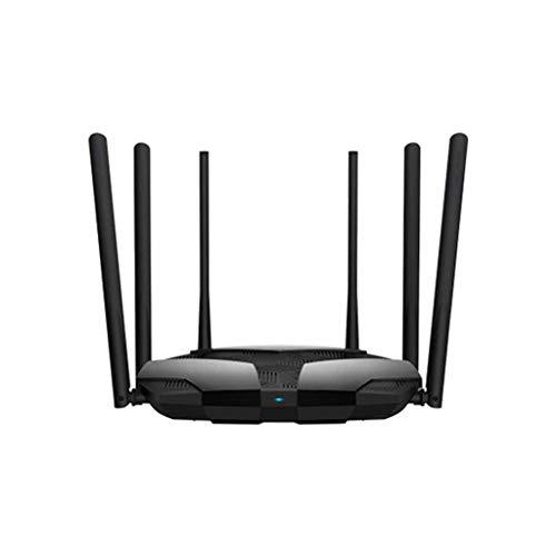 QPALZM Router inalámbrico Inteligente de Doble Banda WiFi,4 Puertos Ethernet,4 Antenas externas de Doble Banda,Router WiFi Inteligente de Largo Alcance, MU-MIMO, procesador de 28nm