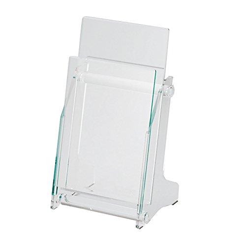 ライオン事務器 カタログスタンド 卓上 A4 3つ折 長3封筒サイズ 1列 1段 PS-1411A