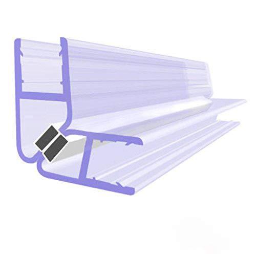 BIJON Magnet-Duschdichtung SET, Duschtürdichtung mit weißen Magneten, Dichtung Dusche Glastür für 90 Grad, 200cm, Glasstärke Duschdichtung 5mm - 6mm