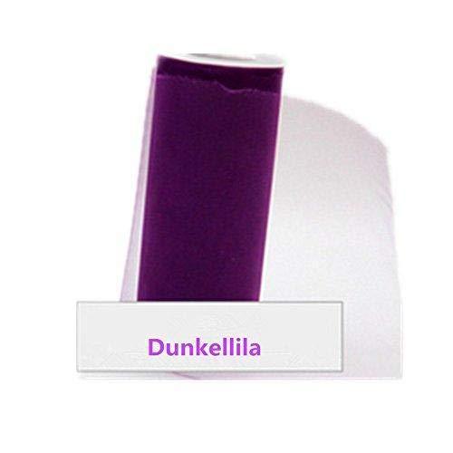 Depory Tüllstoff Tülldekostoff für Kleidung Deko Hochzeit Party 22m x 15cm Dunkellila