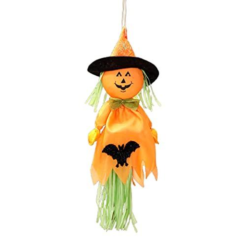 OSELLINE Decorazione di Halloween Zucca Strega Ornamenti Appendino per Casa Haunted Bar A