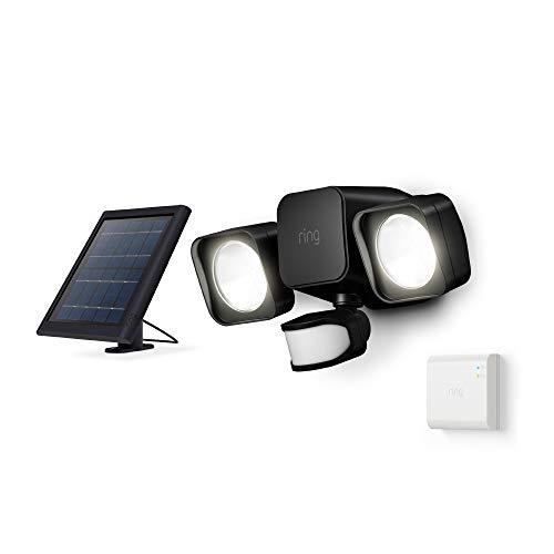 Ring Solar Floodlight, Outdoor Motion-Sensor Security Light, Black (Starter Kit)