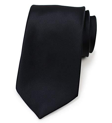 PUCCINI Herren Clip-Krawatte, vorgebundene Ansteckkrawatte, ideal als Sicherheitskrawatte, Security, Junggesellenschied, Homeoffice (Tiefschwarz)