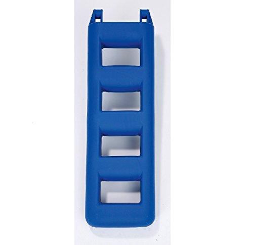 Markenlos Fender Leiter Badeleiter (Blau, Stufen: 4 Länge: 950 mm)