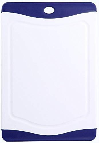 culinario Schneidebrett lido 20 x 14 cm, weiß mit blauem Rand