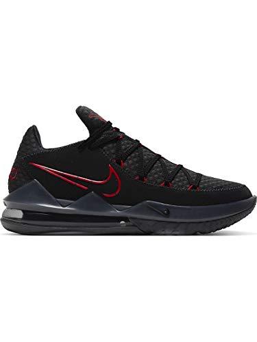 Nike Lebron Xvii Low Herren Basketballschuhe Cd5007-001, Schwarz (Schwarz/Rot), 46 EU