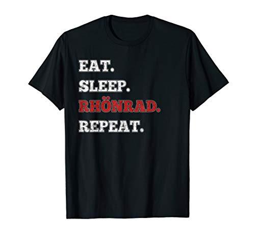 Eat Sleep Rhönrad Repeat für den Turner und Turnerin T-Shirt