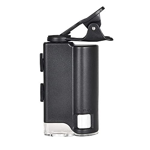 XLSQW Microscopio Tascabile 60X-100X Lente d\'Ingrandimento per Fotocamera endoscopio con ingrandimento Zoom Portatile con Illuminazione UV e LED, per Gioielli e valutazione di Oggetti antichi