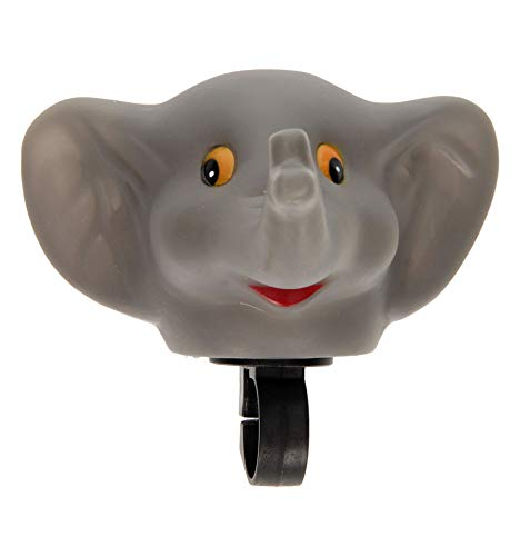 clic-and-get DRULINE Kinder Fahrradhupe Tiere Fahrradklingel Hupe Fahrrad Trote Klingel Glocke Hupe Horn für Fahrradlenker Tierfigur Bär Ente Tiger Elefant (Elefant)