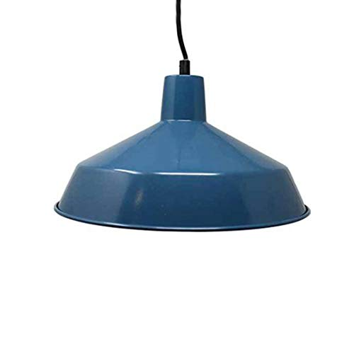 "12"" Diameter Commercial Grade Vintage Barn Style Hanging Pendant (Blue)"
