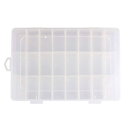 Mdsfe transparante bewaardoos met 24 roosters, van kunststof, verstelbare opbergdoos voor sieradenschroeven - helder, a2